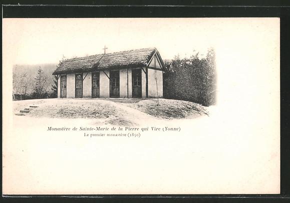 AK Pierre qui Vire, monastère de Sainte-Marie, le premier monastère, 1850