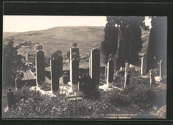 AK Constantinople, Cimetiere d'Eyoub, Friedhof