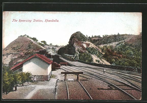 AK Khandalla, The Reversing Station, Wendestation des Bahnhofs