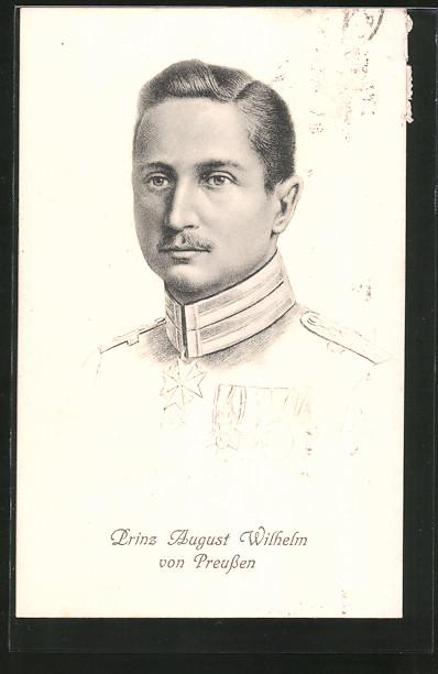 AK Prinz August Wilhelm von Preussen als Stich