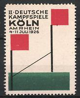 Reklamemarke Köln, II. Deutsche Kampfspiele 1926, Ziellinie