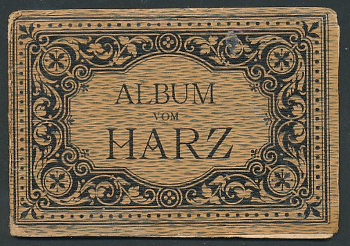 Leporello-Album Harz, 11 Lithographie-Ansichten, Thale, Rosstrappe, diverse Hotels, Bodethal