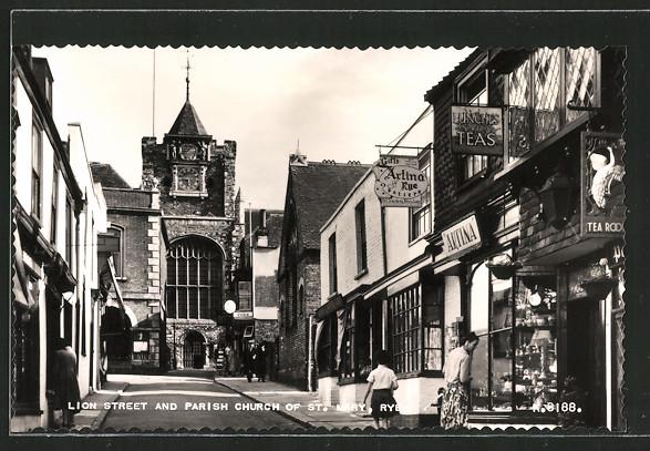 AK Rye, Lion Street and Parish Church of St. Mary