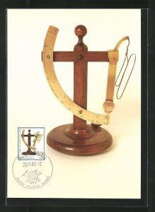 Maximum-AK Pro Juventute, Bern 1982, Tag der Briefmarke, Tag der Briefmarke, Alte Briefwage