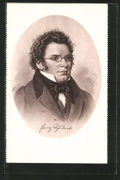 Künstler-AK Komponist Franz Schubert, Portrait