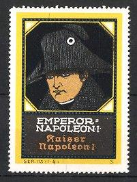 Reklamemarke Portrait Kaiser Napoleon Bonaparte