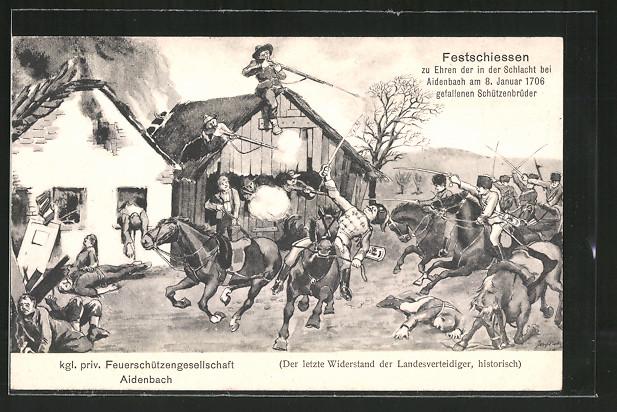 AK Aidenbach, Kgl. Priv. Feuerschützengesellschaft, Festschiessen für 1706 in der Schlacht gefallene Schützenbrüder