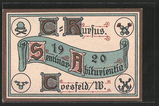 AK Coesfeld, Absolvia, C-Kursus Seminar Abiturienten 1920