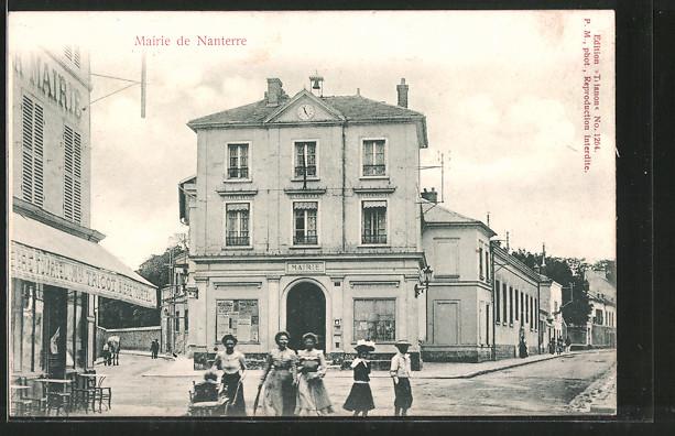 AK Nanterre, Mairie, Strassenpartie mit Rathaus