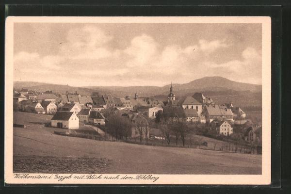 AK Wolkenstein, Blick nach dem Pöhlberg