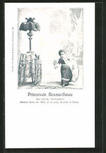 AK Prinzessin Nouma-Hawa, das lebende Tautröpfchen, Liliputanerin