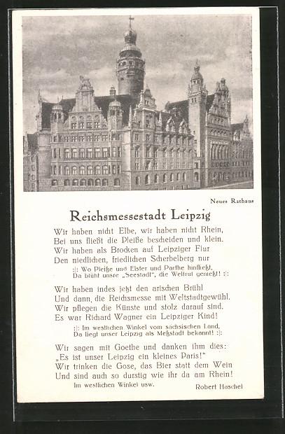 AK Leipzig, Reichsmessestadt, Neues Rathaus