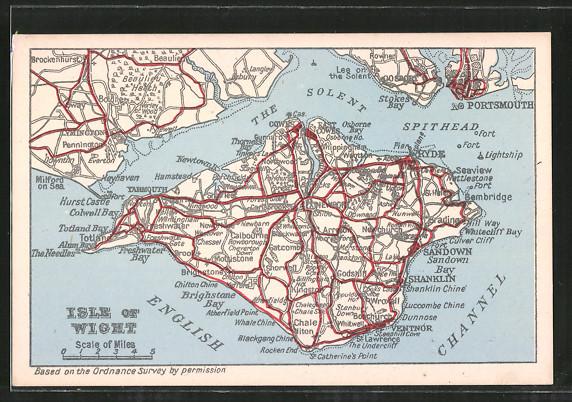AK Isle of Wight, Landkarte