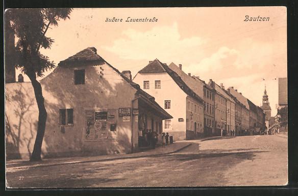 AK Bautzen, Blick in die äussere Lauenstrasse