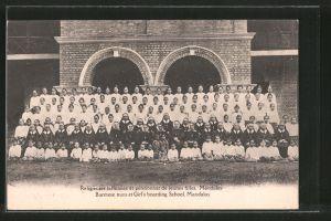 AK Mandalay, Burmese nuns et Girl's boarding School, Religieuses birmanes et pensionnat de jeunes filles