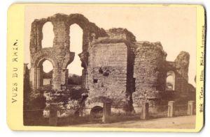 Fotografie unbekannter Ort und Fotograf, Ansicht Trier, Römische Bäder, Äusseres