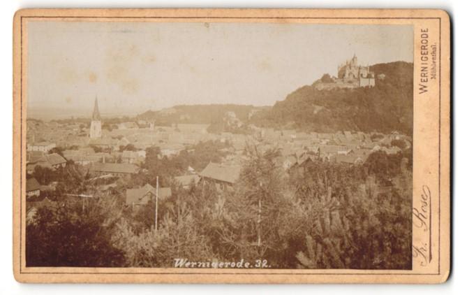 Fotografie E. Rose, Wernigerode, Ansicht Wernigerode, Panorama