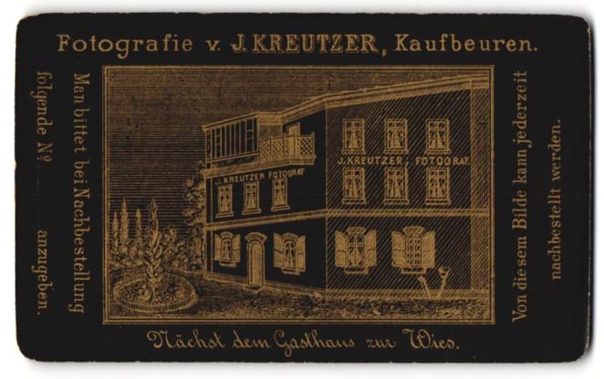 Fotografie J. Kreutzer, Kaufbeuren, Ansicht Kaufbeuren, Atelier J. Kreutzer