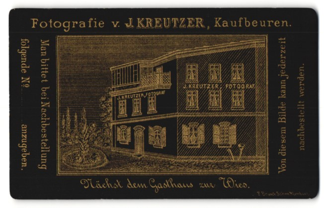 Fotografie J. Kreutzer, Kaufbeuren, Ansicht Kaufbeuren, Haus mit Atelier J. Kreutzer