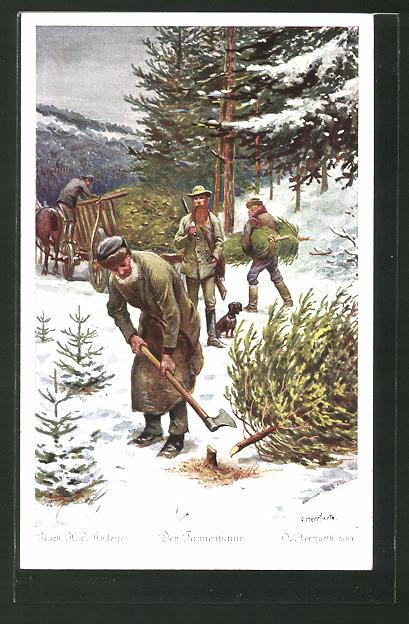 Märchen Von Hans Christian Andersen Der Tannenbaum.Künstler Ak Oskar Herrfurth H C Andersen Der Tannenbaum