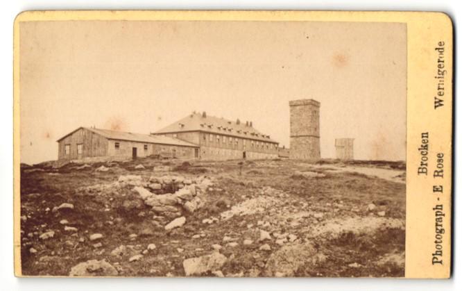 Fotografie E. Rose, Wernigerode, Ansicht Brocken, Panorama