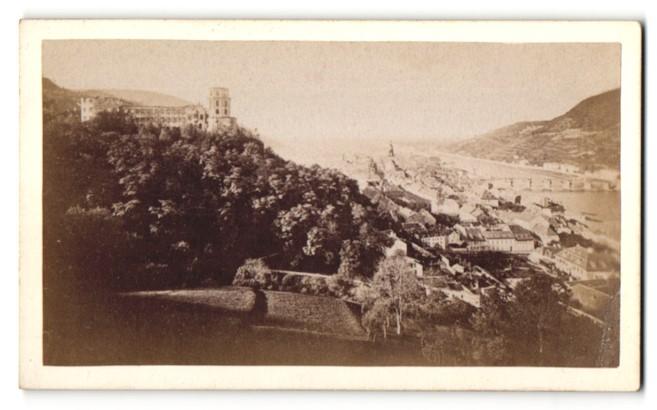 Fotografie L. Meder, Heidelberg, Ansicht Heidelberg, Totale mit Schloss