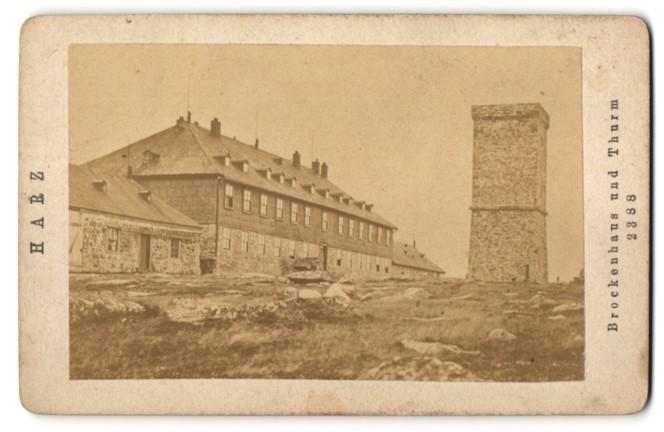Fotografie unbekannter Fotograf, Ansicht Brockenhaus und Turm