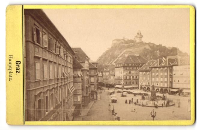 Fotografie unbekannter Fotograf, Ansicht Graz, Hauptplatz