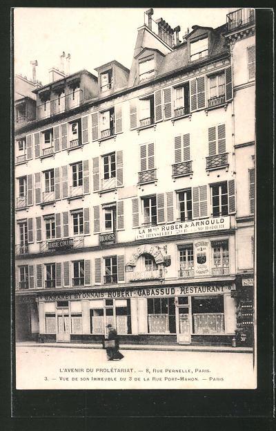 AK Paris, L'Avenir du Prolétariat, 8 Rue Pernelle