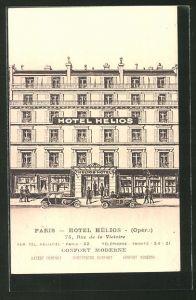AK Paris, Hotel Hélios (Oper), 75, Rue de la Victoire, Autos