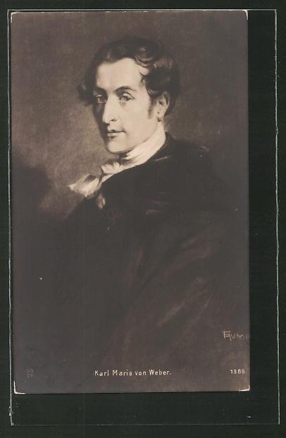 Künstler-AK Fritz Rumpf: Karl Maria von Weber, Brustportrait