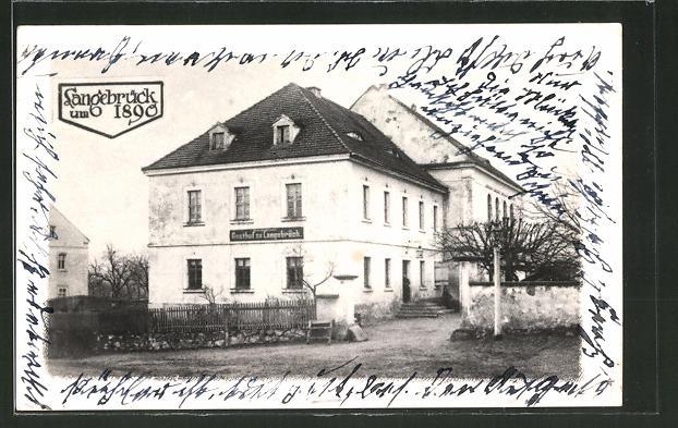 AK Langebrück, Ansicht vom Gasthof zu Langebrück