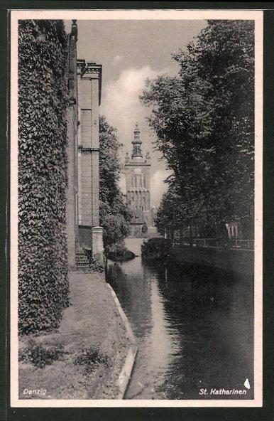 AK Danzig / Gdansk, St. Katharinen