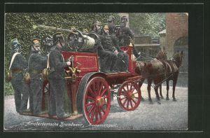 AK Amsterdam, Feuerwehr mit ihrem Pferdewagen