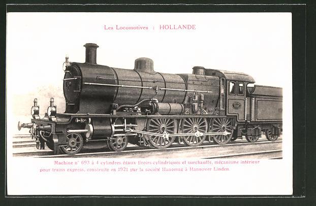 AK Locomotives Hollande, Machine a 693 a 4 cylindres, Eisenbahn