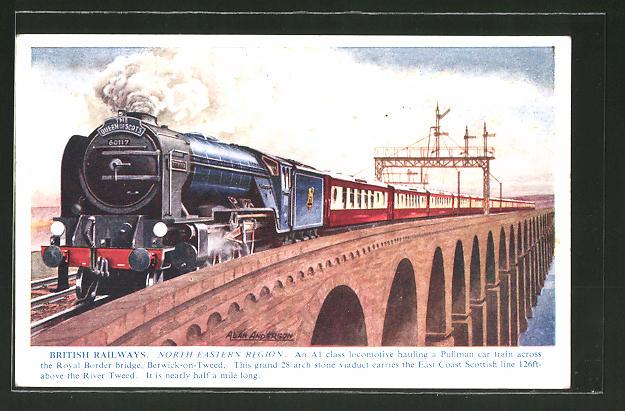 AK British Railways, North Eastern Region, englische Eisenbahn