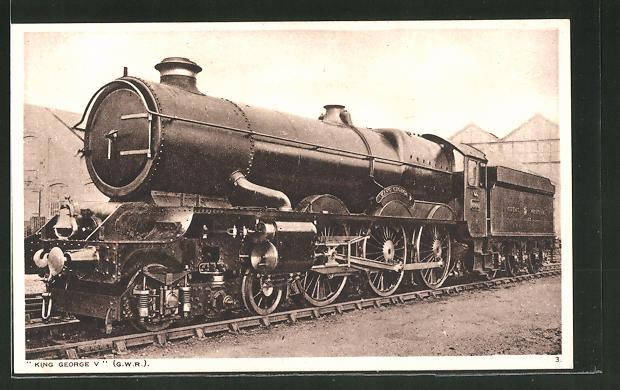 AK King Georg V., englische Eisenbahn