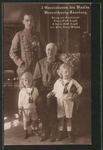 AK Herzog von Cumberland mit Herzog Ernst August von Braunschweig und seinen Söhnen