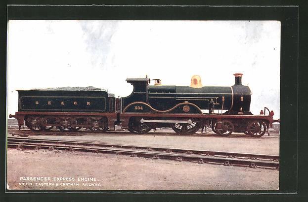 AK Passenger Eypress Engine, South Eastern & Chatham Railway, englische Eisenbahn