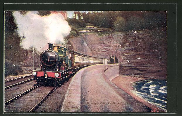 AK Great Western Express, englische Eisenbahn