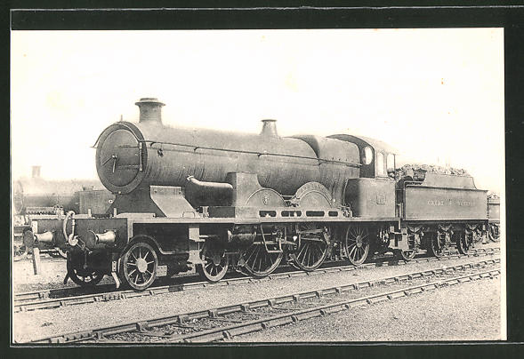 AK Locomotive Anglaises, Great Western Railway, Locomotive Atlantic, Dampflok