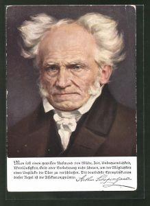 AK Portrait von Arthur Schopenhauer