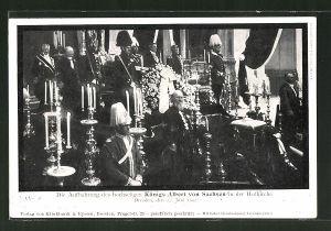 AK Dresden, Aufbahrung des Königs Albert von Sachsen in der Hofkirche, 1902