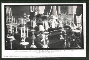 AK Dresden, Aufbahrung des hochseligen Königs Albert von Sachsen in der Hofkirche, 1902