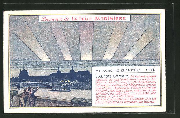 Künstler-AK Paris, Magasin Belle Jardinière, 2 Rue du Pont-Neuf, L'Aurore Boréale