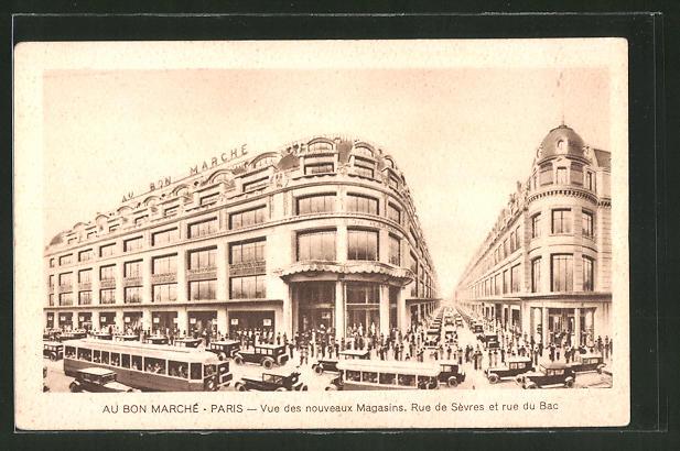 AK Paris, Vue des nouveaux Magasins, Rue de Sevres et rue du Bac