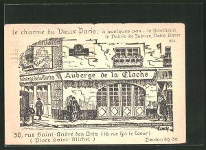 AK Paris, Auberge de la Cloche, 30 Rue Saint-André des Arts