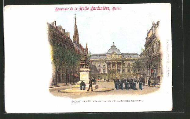 AK Paris, la Belle Jardinière, Le Palais de Justice et la Sainte-Chapelle