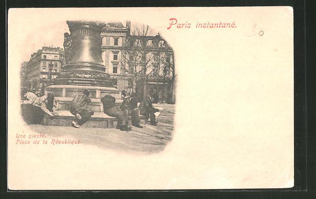 AK Paris instantané, Place de la République