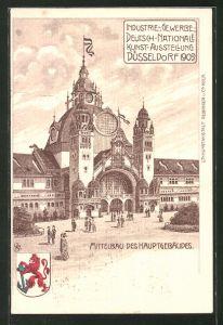 Lithographie Düsseldorf, Industrie-, Gewerbe- und Deutsch-Nationale Kunst-Ausstellung 1902, Hauptgebäude